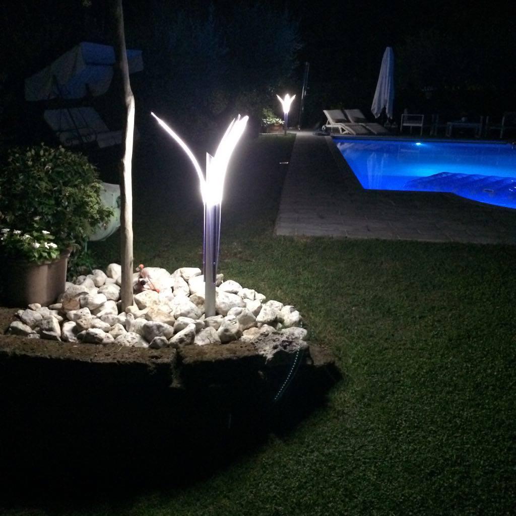 Lampade da giardino a led prezzi economici e di lusso ecosistema magazine - Lampade led piscina prezzi ...